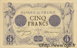 5 Francs NOIR FRANCE  1873 F.01.20 SPL