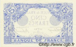5 Francs BLEU FRANCE  1912 F.02.03 SUP+