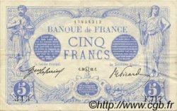 5 Francs BLEU FRANCE  1912 F.02.07 TTB+