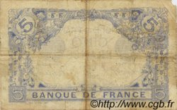 5 Francs BLEU FRANCE  1915 F.02.29 TB+