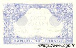5 Francs BLEU FRANCE  1915 F.02.29 pr.NEUF