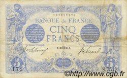5 Francs BLEU FRANCE  1915 F.02.30 TTB