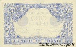 5 Francs BLEU FRANCE  1915 F.02.33 SUP+