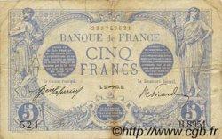 5 Francs BLEU FRANCE  1915 F.02.33 TB+