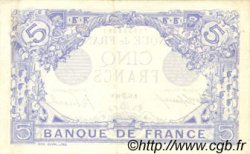 5 Francs BLEU FRANCE  1916 F.02.40 SUP+