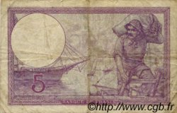 5 Francs VIOLET FRANCE  1918 F.03.02 B+ à TB