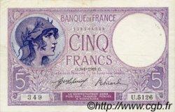 5 Francs VIOLET FRANCE  1919 F.03.03 TTB+
