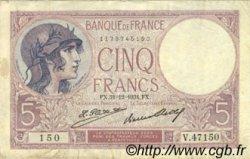5 Francs VIOLET FRANCE  1931 F.03.15 TB+