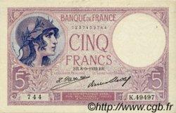 5 Francs VIOLET FRANCE  1932 F.03.16 TTB+