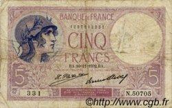 5 Francs VIOLET FRANCE  1932 F.03.16 pr.TB