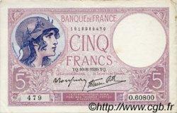 5 Francs VIOLET modifié FRANCE  1939 F.04.05 TTB+