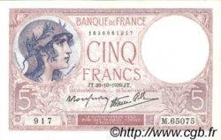 5 Francs VIOLET modifié FRANCE  1939 F.04.13 pr.SPL