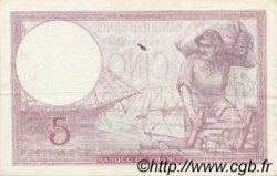5 Francs VIOLET modifié FRANCE  1939 F.04.13 TTB+
