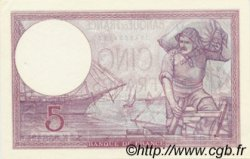 5 Francs VIOLET modifié FRANCE  1939 F.04.14 SUP à SPL