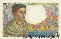 5 Francs BERGER FRANCE  1943 F.05.01 SUP à SPL