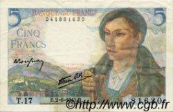 5 Francs BERGER FRANCE  1943 F.05.01 TTB+