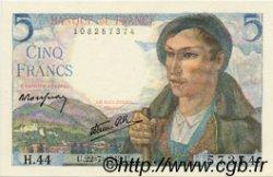 5 Francs BERGER FRANCE  1943 F.05.02 pr.SPL
