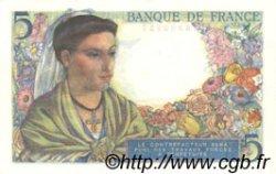 5 Francs BERGER FRANCE  1943 F.05.02 SPL+