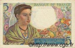 5 Francs BERGER FRANCE  1943 F.05.03 pr.SPL