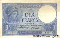 10 Francs MINERVE FRANCE  1916 F.06.01 SUP