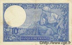 10 Francs MINERVE FRANCE  1916 F.06.01 TTB à SUP