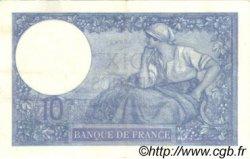 10 Francs MINERVE FRANCE  1918 F.06.03 TTB+