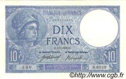 10 Francs MINERVE FRANCE  1918 F.06.03 SUP
