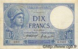 10 Francs MINERVE FRANCE  1921 F.06.05 pr.SUP