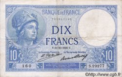 10 Francs MINERVE FRANCE  1926 F.06.11 TB à TTB