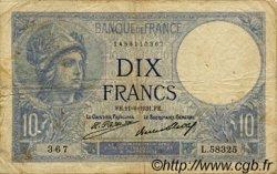 10 Francs MINERVE FRANCE  1931 F.06.15 B+