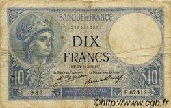 10 Francs MINERVE FRANCE  1932 F.06.16 B+