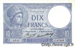 10 Francs MINERVE FRANCE  1936 F.06.17 SPL+