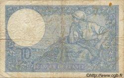 10 Francs MINERVE modifié FRANCE  1939 F.07 B+ à TB