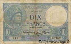 10 Francs MINERVE modifié FRANCE  1939 F.07.11 pr.TB