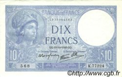 10 Francs MINERVE modifié FRANCE  1940 F.07.16 pr.SUP