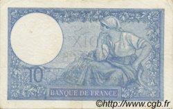 10 Francs MINERVE modifié FRANCE  1940 F.07.19 TTB+
