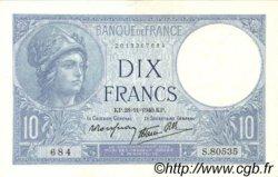 10 Francs MINERVE modifié FRANCE  1940 F.07.22 SPL