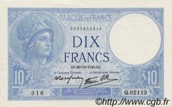 10 Francs MINERVE modifié FRANCE  1940 F.07.25 SPL