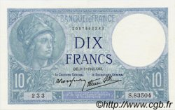 10 Francs MINERVE modifié FRANCE  1941 F.07.27 SPL