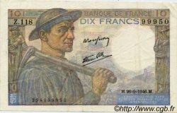 10 Francs MINEUR FRANCE  1941 F.08 TTB