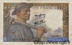10 Francs MINEUR FRANCE  1941 F.08.01 TB à TTB