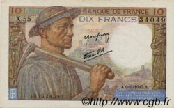10 Francs MINEUR FRANCE  1943 F.08.09 SUP+