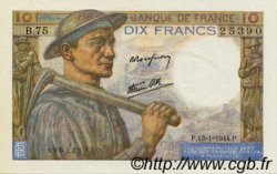 10 Francs MINEUR FRANCE  1944 F.08.10 SPL+