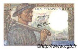 10 Francs MINEUR FRANCE  1944 F.08.11 pr.NEUF