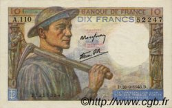 10 Francs MINEUR FRANCE  1946 F.08.15 SUP+