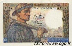 10 Francs MINEUR FRANCE  1947 F.08.19 SPL