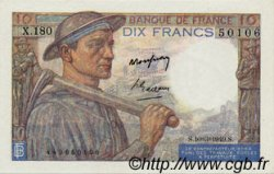 10 Francs MINEUR FRANCE  1949 F.08.20 SPL