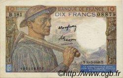 10 Francs MINEUR FRANCE  1949 F.08.20 SUP