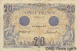20 Francs BLEU FRANCE  1912 F.10.02 TB
