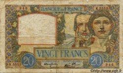 20 Francs SCIENCE ET TRAVAIL FRANCE  1939 F.12 B